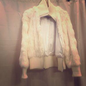 Wilson Leather Maxima Rabbit fur coat